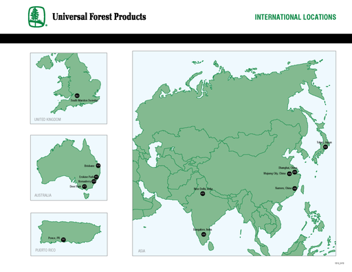 Universal Forest Products International Locations